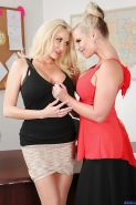 Lesbian teacher Phoenix Marie pleases her teacher Summer Brielle
