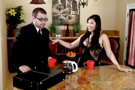 Asian wife London Keyes loves to cheat on her husband's cock