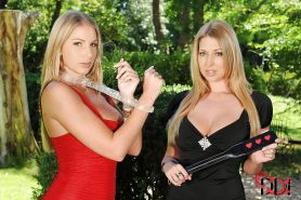 Great BDSM fuck of two lesbians Danielle Maye and Lexi Lowe outdoor