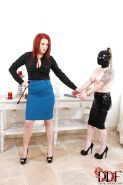 Fetish bitch Angel Deelight teaches Paige about BDSM and femdom
