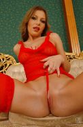 Milf Cindy is demonstrating her gorgeous big boobies and stockings