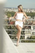 Intuitive pornstar babe Doris Ivy takes part in photo set on balcony