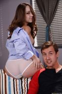 Sexy girlfriend Remy LaCroix and her big oiled ass giving bj in knee highs