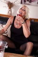 Aged UK woman Jan Burton gets drunk and flashes upskirt underwear