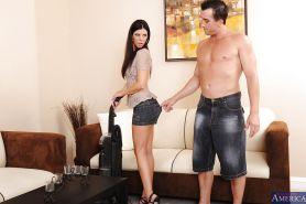 Graceful MILF India Summer gets fucked hard and jizzed over her ass