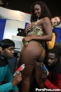 Ebony babe Aryana Starr getting fucked by meaty cocks in an orgy