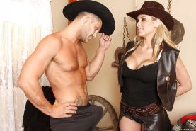 Busty pornstar Alanah Rae enjoys hardcore ass fucking on her ranch