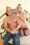 Naughty chick in stockings Jessie Volt gets her asshole drilled hardcore