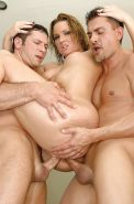 Flower Tucci enjoys hardcore double penetration action with hung lads