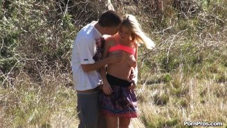 Blonde Casi James gets fucked on public on the hidden camera