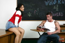Amateur Asian milf Mika Tan enjoys hardcore ass fucking in the classroom
