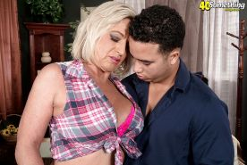 Busty mature lady Brandi Jaimes getting butt fucked by large cock