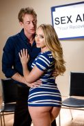 Hot MILF AJ Applegate takes cumshot on ass after having shaved cunt banged
