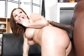 Sultry MILF Katja Kassin gets her holes drilled by a huge black dong