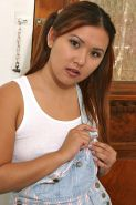 Amateur Asian babe Kylie Rey unveiling tiny tits and pierced pussy #50043489
