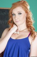 Teen redhead Alex Tanner shows off in her fantastic high heels