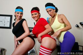 Sports babes Ricki White, Kelly Divine and Claire Dames pose naked