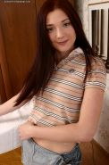 Appealing amateur teen Elena is fond of undressing on camera