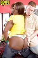 Ebony plumper Stacy Love offering up big black butt for doggystyle banging
