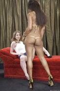 Hot gals Emily Addison & Leilani Leeane are into sensual lesbian action