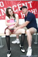 Slutty schoolgirl Tori Black gets her trimmed pussy pounded hardcore