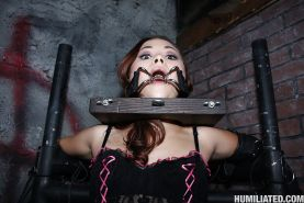 Asian babe Kita Zen gets bukkake after hardcore bondage sex