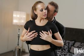 Sexy pornstar Chanel Preston has her big tits teased and ass fucked