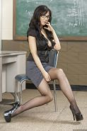 Hot teacher in glasses Diana Prince uncovering her voluptuous curves