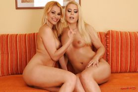 Hot lesbians Brandy Smile & Cindy Hope are into hot fisting action