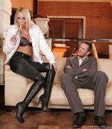 Formidable blondie Mandy Dee in a hardcore fuck scene with her man