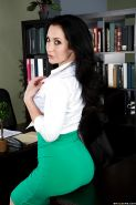 Big-tit Jayden Jaymes touches her lovely naked body in the office