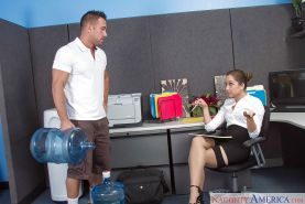 Office slut Remy LaCroix giving and receiving oral sex at work