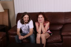 Curly-haired redhead mom gets shagged and tastes some hot jizz