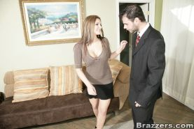 MILF babe with big melons Austin Kincaid is riding a huge dick