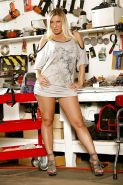 Curvy MILF on high heels Devon Lee gets rid of her tiny dress and lingerie