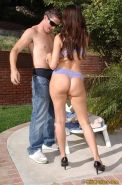 Mature latina vixen Sheila Marie gets her pussy licked and shafted outdoor