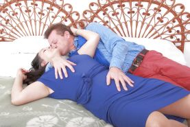 Older amateur Suzanne gives head before riding husband's dick