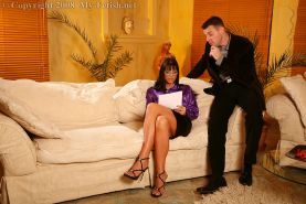 Fully clothed MILF Simony Diamond gets her love holes drilled hardcore