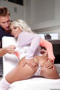 Young blonde Marsha May having ass ate out before penetration of virgin ass