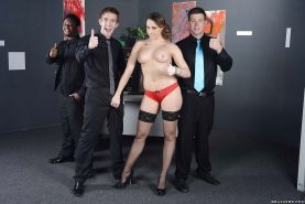 Chanel Preston gets her trimmed pussy licked and boned-up by her office mate