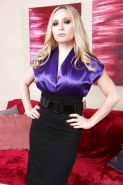 Hot MILF in stockings Aiden Starr gets rid of her dress and lingerie