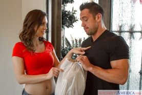 Milf wife Jade Nile was drilled hard in her hairy snatch in the bed