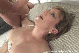Mature lady with big tits gets a facial cumshot after hardcore fucking #51338746