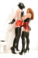 Lusty babes Gemini & Paige Richards are into lesbian BDSM action