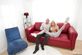 Scrumptious blonde with big tits Amy Brooke is destroyed by huge shaft