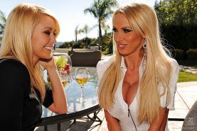 MILFs Nikki Benz and Monique Alexander show ass fucking in groupsex