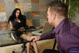 Amy Anderssen demonstrates gigantic tits and gets a yummy dagger