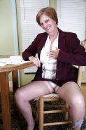 Fat mature in shiny stockings Ray Lynn caressing her ripe melons