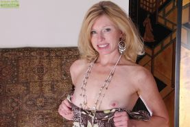 Nice blonde mature bitch with tiny tits Holly spreading her pussy #51333068