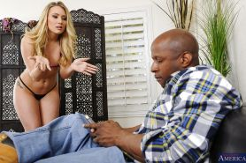 Interracial couple are fucking hard feat. AJ Applegate
